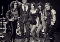 "Glam Skanks join DREW CAREY on ""Night Late"" at USB"
