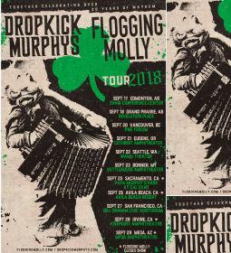 Dropkick Murphys 2018 West Coast Tour Dates with Flogging Molly